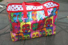 Vinyl Tote Inspiration - Free PDF Sewing Tutorial