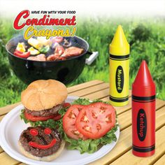 Condiment Crayons - the kids will love these