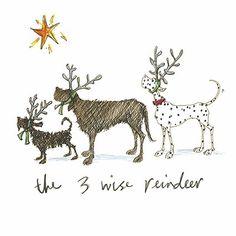 """ The 3 Wise Reindeer "" - Sam Toft Open Christmas Card - XST1075 SAM TOFT - XST1075 http://www.amazon.co.uk/dp/B00N587HE6/ref=cm_sw_r_pi_dp_27Tbwb0R9KA3D"