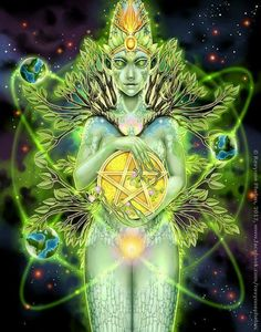 Featured Card of the Day – Queen of Pentacles – 78 Tarot Astral ~ Tarot in Space « Tarot by Cecelia Psychedelic Art, Tarot By Cecelia, Tarot Astrology, Moon Witch, Love Tarot, Psy Art, Hero's Journey, Visionary Art, Pentacle