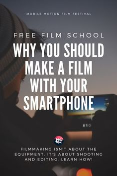 FREE Film School: Why you should make a film with your smartphone. Filmmaking isn't about the equipment, it's about shooting and editing. Filmmaking Quotes, Documentary Filmmaking, Film Tips, Film Theory, Nails Short, Photography Movies, Free Films, Entertainment Video, Film Inspiration