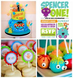 Little Monster 1st Birthday Party via Kara's Party Ideas KarasPartyIdeas.com #monsterparty #monsterpartyideas #monsterbirthdayparty #partyplanning
