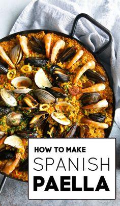 Rice Recipes, Seafood Recipes, Dinner Recipes, Cooking Recipes, Healthy Recipes, Seafood Paella Recipe, Mixed Paella Recipe, Best Paella Recipe, Spanish Seafood Paella
