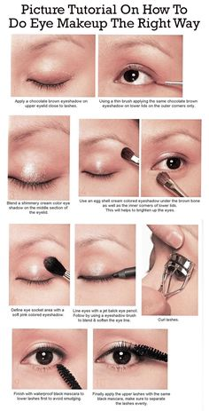 Picture Tutorial On How To Do Eye Makeup The Right Way
