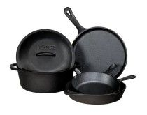 Lodge L5HS3 5-Piece Pre-Seasoned Cast-Iron Cookware Set Review #camping #castiron #cookware http://www.amazon.com/gp/product/B004QM8SLG/ref=as_li_tl?ie=UTF8&camp=1789&creative=390957&creativeASIN=B004QM8SLG&linkCode=as2&tag=campingquartermaster-20&linkId=7DUSTNIQSO3YIZK2