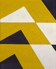 Charles Green Shaw - Harmony in Black, White, and Yellow, 1970