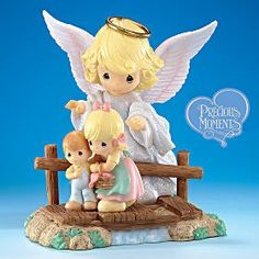 Exclusive Precious Moments® Collectible Guardian Angel... | review | Kaboodle..... this was my grandmother's favorite angel picture and precious moments made it so much more adorable