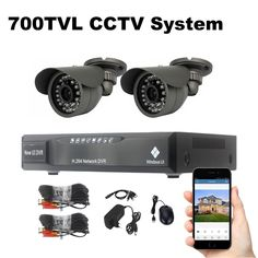 2 Cameras Security System 700TVL Video Surveillance Kit 18m Cable Night Vision Outdoor Waterproof CCTV System  Price: $ 148.99 & FREE Shipping   #computers #shopping #electronics #home #garden #LED #mobiles