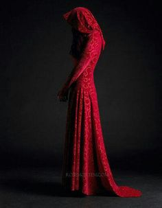 Red druid dress