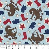 And don't forget the little cowboys! 1 yard New Wanna Be A Cowboy by Riley Blake by FabWarehouse, $8.99