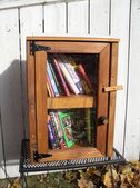 "Anyone heard of ""Little Free Library?""  www.littlefreelibrary.org"