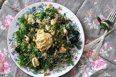 Superfood Salad – Purple Sprouting Broccoli, Chickpeas, Kale, Sprouts, and Seeds | One Green Planet