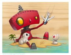 BAD ROBOT!!! So many good things come from this little robot. *huggles it*