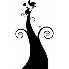 Sticker Amour de cigogne