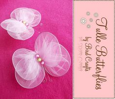 How to make tulle butterflies or wings for your kids costume.