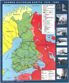 Suomen historia 1939 - 1940 Old Maps, Nordic Design, Interesting History, Crests, Historian, Ancient History, Independence Day, Geography, Good To Know
