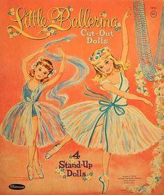Vintage Little Ballerina Paper Dolls