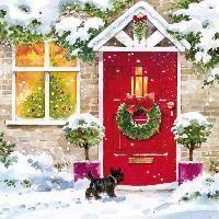 2349 Servilleta decorada Navidad