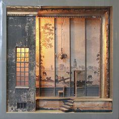 """Peter Gabriëlse- box sculpture, in """"De Wereld in Miniatuur"""" exhibition - Slot Zeist."""