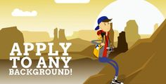 Backpacker Mascot Cartoon Animated