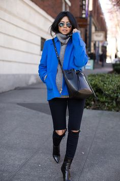Upgrade your Winter look with a bold and bright coat.