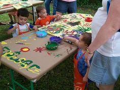 kids painting / street fair