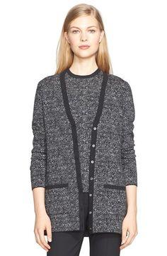 MICHAEL KORS Merino Wool Tweed Cardigan. #michaelkors #cloth #sweater