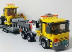Your small town is expanding, but you can't build new roads. Introducing the Construction Truck and Roller. With this set the town won't expand fast enough to keep the roller ...
