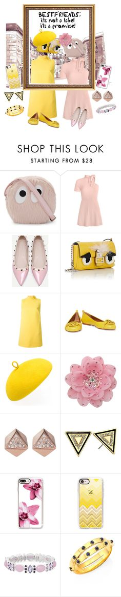 """""""Fur Bag"""" by velvetmahya ❤ liked on Polyvore featuring Mini Cream, WithChic, Fendi, RED Valentino, Tory Burch, Mademoiselle Slassi, Tarina Tarantino, FOSSIL, House of Harlow 1960 and Casetify"""