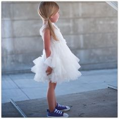 Love the Converse with the fancy dress!  Gotta do this when baby girl gets bigger!