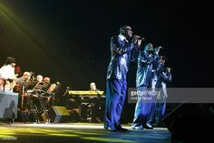 Lawrence Roquel Payton, Harold Spike DeLeon, Ronnie McNeir and Abdul Duke Fakir of The Four Tops perform on stage at First Direct Arena on April 1, 2014 in Leeds, United Kingdom.