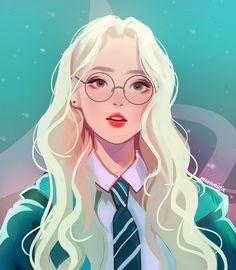 New Glasses Girl Illustration Ideas 48 Ideas Harry Potter Drawings, Harry Potter Anime, Harry Potter Fan Art, Desenhos Harry Potter, Anime Art Girl, Anime Girls, Manga Girl, Aesthetic Anime, Cartoon Art