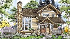 Eplans Craftsman House Plan - Two Bedroom Craftsman - 1171 Square Feet and 2 Bedrooms(s) from Eplans - House Plan Code HWEPL69717