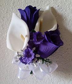 Amazon.com - Purple Rose Calla Lily Corsage (For Wrist) -