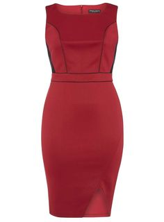 Dorothy+Perkins+Plus+Size+Wine+Sleeveless+Fitted+Scuba+Dress+with+Lace+Insert+-+Dorothy+Perkins+Wine+Sleeveless+Fitted+Scuba+Dress+with+Lace+Insert    Fabric:+polyester,+elastane  Colour:+red  Dress+type:+bodycon,+fitted,+pencil  Pattern:+no+pattern  Sleeves:+sleeveless  Neckline:+scoop+neckline  Fit:+stretch  Occasion:+party,+cocktail  Length:+42+inch  Fastening:+invisible+back+zip  Lined+in+bodice…