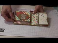 Traci Cornelius's Stampin Up Tecnique Class - April - One Sheet Wonder Mini Album - YouTube