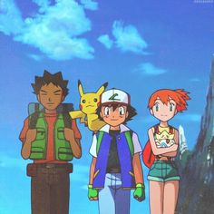 Brock, Ash, and Misty