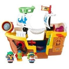 Fisher-Price Little People® Pirate Ship . Jackson has made this the center of his toy universe. Weebles, super heros and pirates all on one ship! Toys R Us, Toys For Boys, Kids Toys, Toddler Toys, Baby Toys, Baby Play, Lego Duplo Zoo, Fantasias Halloween, Fisher Price Toys