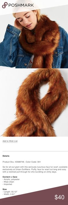 🌟HOST PICK🌟 Urban Outfitters Faux Fur Stole Add this chic statement piece to your winter wardrobe and relish in the cozy versatility it offers! Soft faux fur. Curved shape to allow the stole to rest delicately around your shoulders. MSRP: $49 + tax.  BRAND NEW WITH TAGS: Purchased last fall (2017) and never ended up wearing this piece. Perfect, brand new condition. Original tags still attached. Currently sold out online.  Smoke and pet-free home! I often adjust my pricing during Posh…