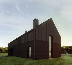 If my side return was a whole house it would look like this. Black zinc cladding AND bricks. I die. Residential house designed by 081 Architekci in Poland. http://081.com.pl/czarny-dom/ Check out their other projects while you're there too.