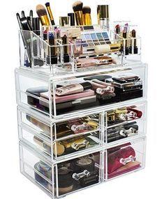 Makeup Jewellery Storage, Makeup Storage Organization, Jewelry Storage, Jewelry Box, Acrylic Makeup Storage, Bathroom Organization, Storage Ideas, Wedding Jewelry, Diy Jewelry