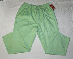 CHIC Womens Plus Size 26w Lime Green Cotton Pants NEW, summer #sale