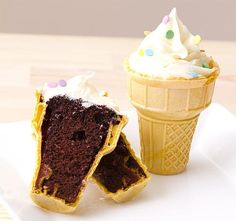 Ice Cream Cone Cupcakes!  My mom used to make these all the time!