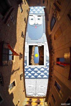 Arte Urbano: Ilustraciones surrealistas proyectadas entre los rascacielos