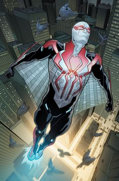 "#Spiderman #2099 #Fan #Art. (Spiderman 2099 #2 ""Preview Cover"") By: FRANCESCO MATTINA. (THE * 5 * STÅR * ÅWARD * OF: * AW YEAH, IT'S MAJOR ÅWESOMENESS!!!™)[THANK Ü 4 PINNING<·><]<©>ÅÅÅ+(OB4E)"