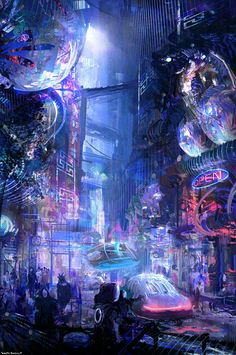 Nightlife  | #cyberpunk #scifi #darkfuture #bravenewworld