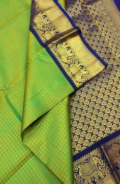 Green Handloom Kanjeevaram Pure Silk Saree #kanjeevaramsaree#traditionalwear#graceful#indiantradition#womenwear#ethnic#festivalcolors#sareefashion#kanjeevaram# Indian Bridal Sarees, Wedding Silk Saree, Indian Beauty Saree, Silk Saree Kanchipuram, Kanjivaram Sarees, Organza Saree, Silk Saree Blouse Designs, Bridal Blouse Designs, My Collection