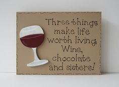 Hand Painted Wooden Tan Funny Sister Sign Three by kimgilbert3, $12.00