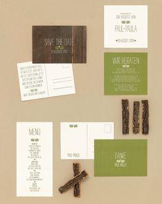 Waldeslust - Papeterie, Hochzeitspapeterie, Karten, Einladung, Kirchenheft, Danksagung, Save-the-Date, Menü, Programmheft, Hochzeitszeremonie