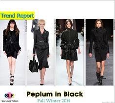 Black Skirt-Suit Peplum #Fashion Trend for Fall Winter 2014 #Fall2014 #Fall2014Trends #FashionTrends2014